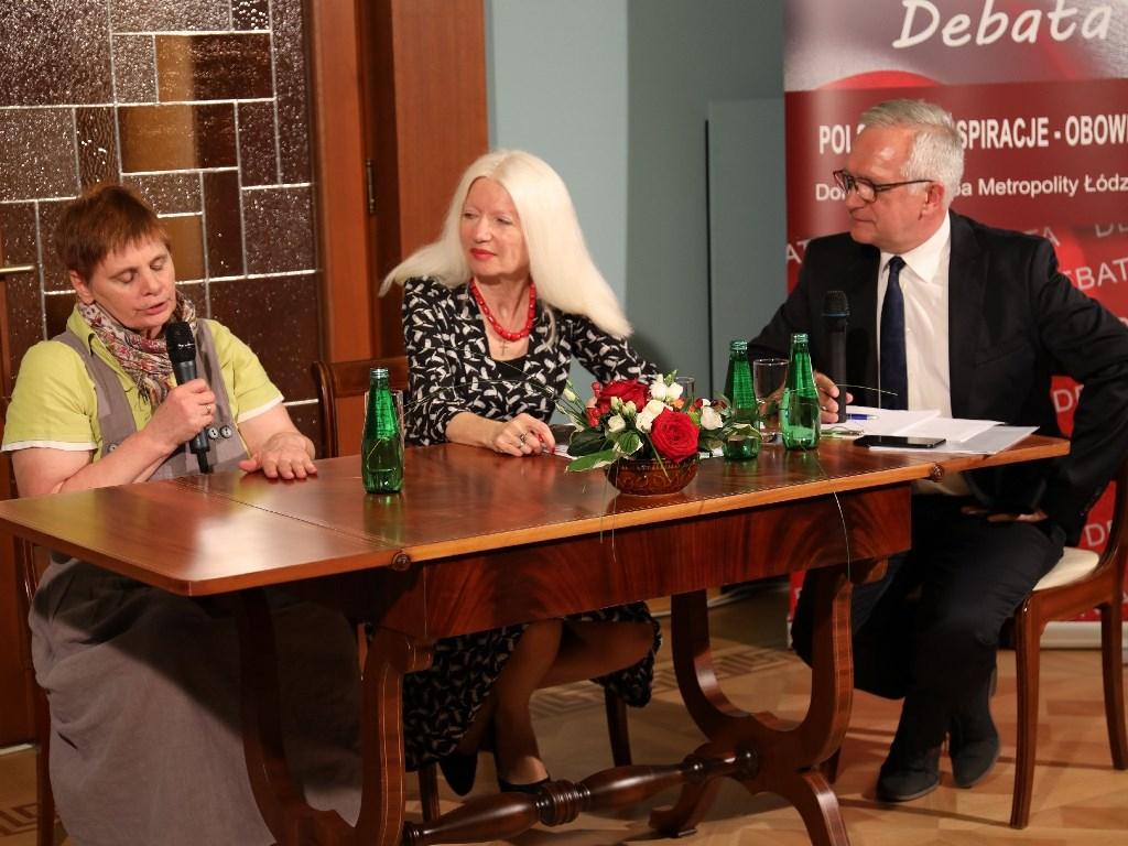 Janina Ochojska, Małgorzata Niezabitowska i Zbigniew Nosowski