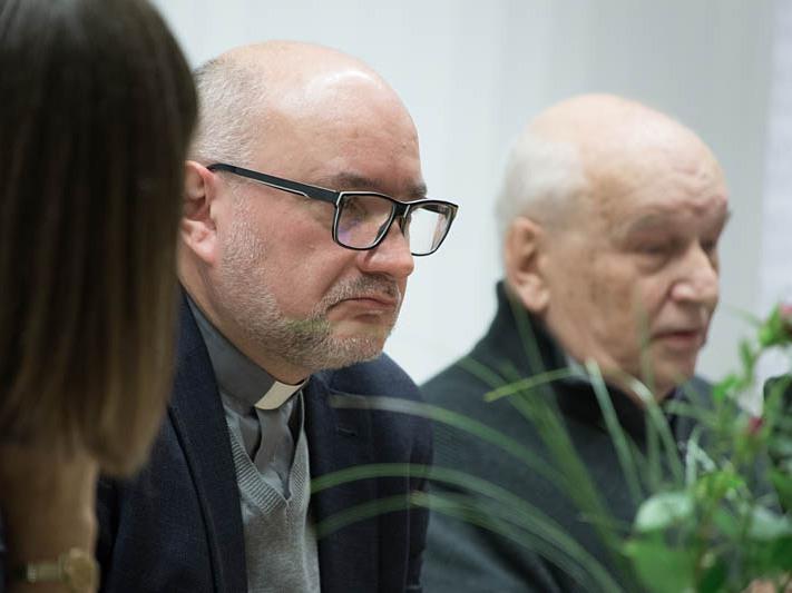 Ks. Andrzej Draguła i Paweł Taranczewski