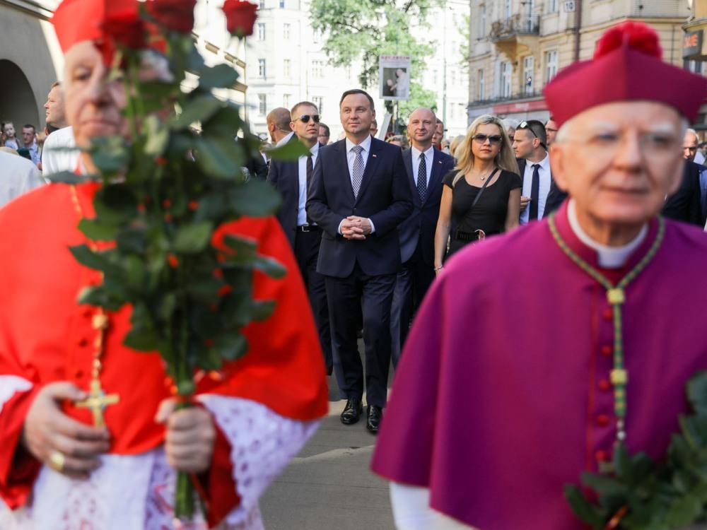 Prezydent Andrzej Duda i abp Marek Jędraszewski