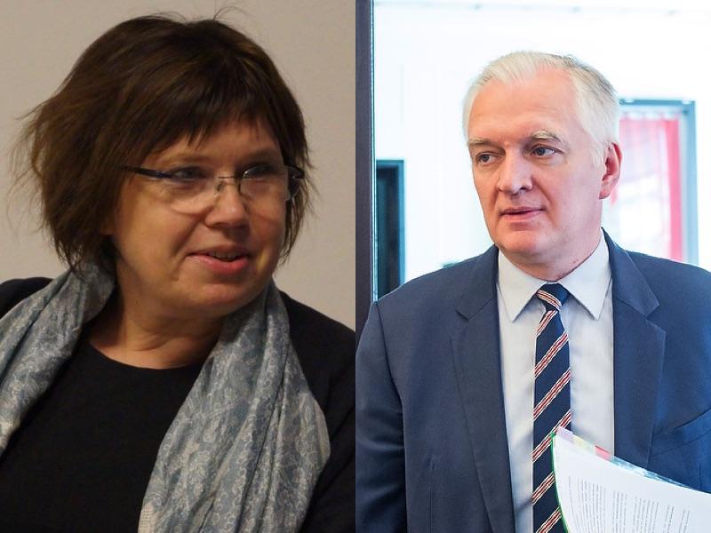 Prof. Barbara Engelking, wicepremier Jarosław Gowin