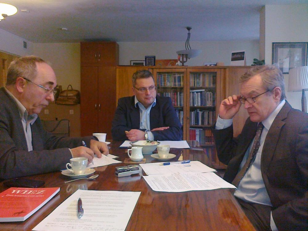 Aleksander Smolar, Marek Rymsza i Piotr Gliński