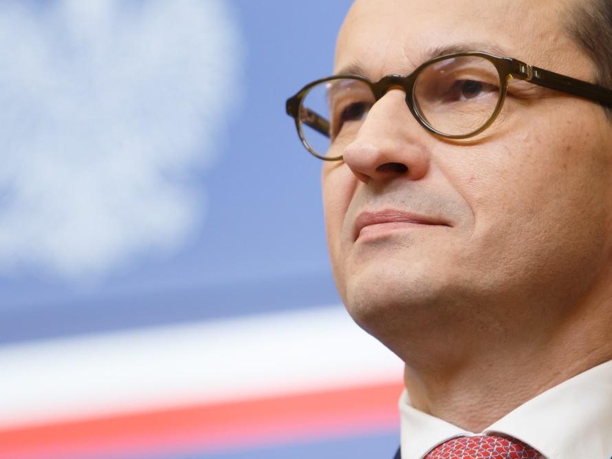 Premier Mateusz Morawiecki podczas posiedzenia Rady Europejskiej 29 czerwca 2018 r. w Brukseli