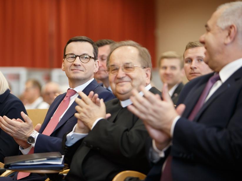 Premier Mateusz Morawiecki i o. Tadeusz Rydzyk