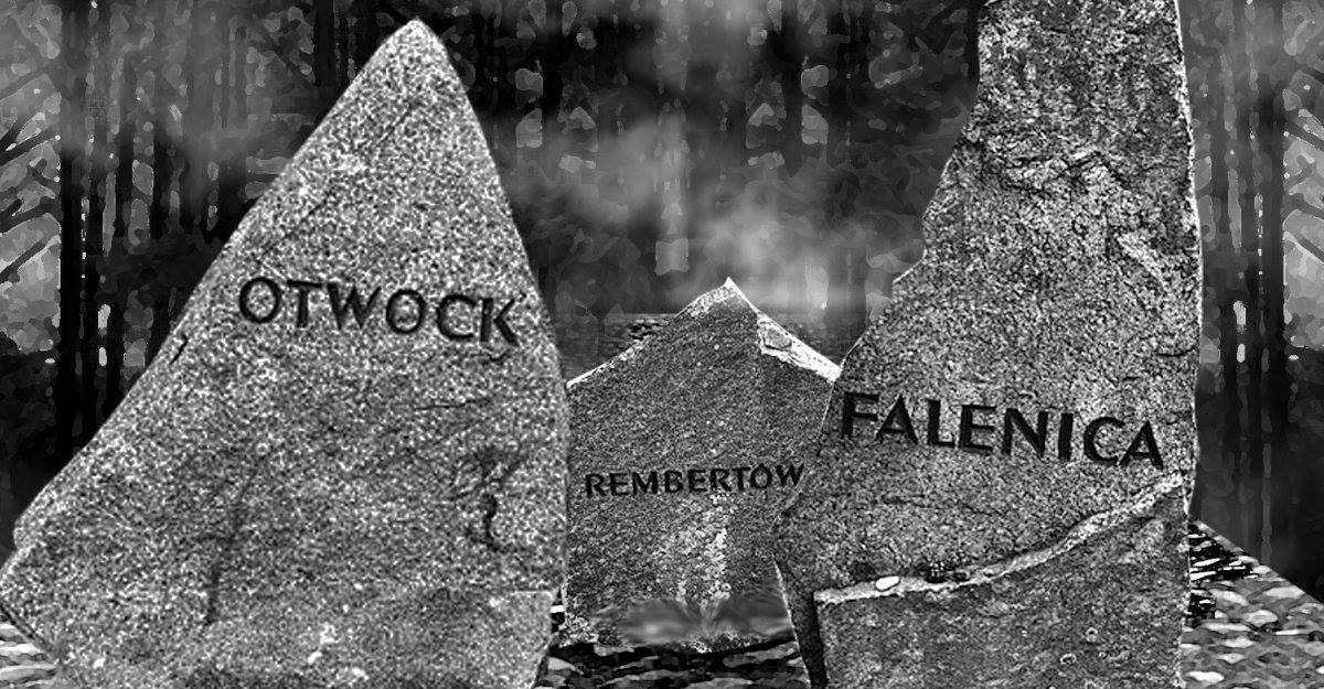 Kamienie upamiętniające Żydów z Otwocka, Rembertowa i Falenicy zamordowanych w Treblince
