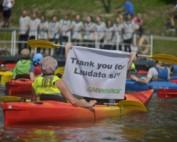 Spływ kajakowy Greenpeace Polska 23 lipca 2006 r. w Krakowie
