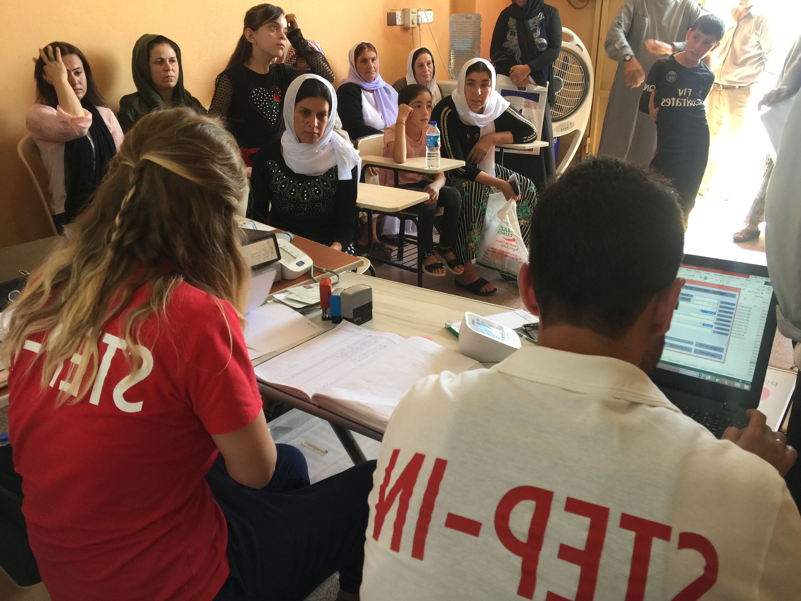 Recepcja kliniki Step-In w irackim Kurdystanie