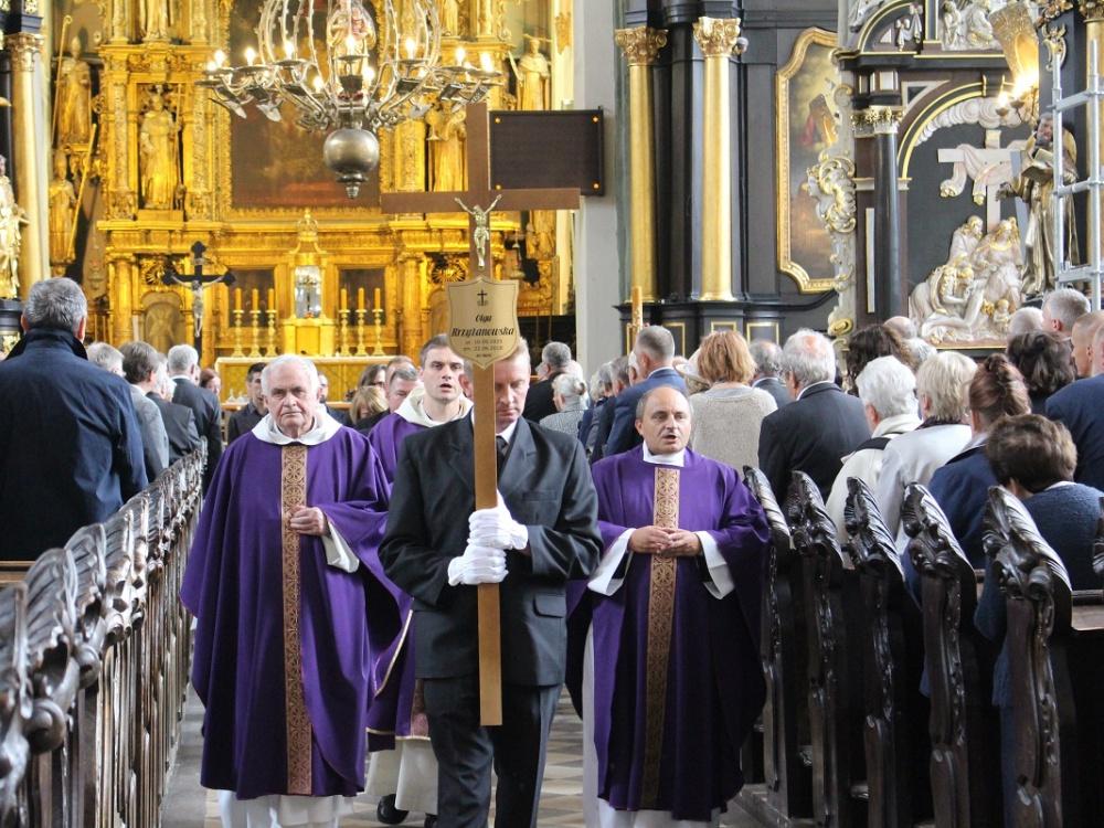 Msza pogrzebowa w intencji Olgi Krzyżanowskiej w Bazylice św. Mikołaja w Gdańsku 30 czerwca 2018 r.