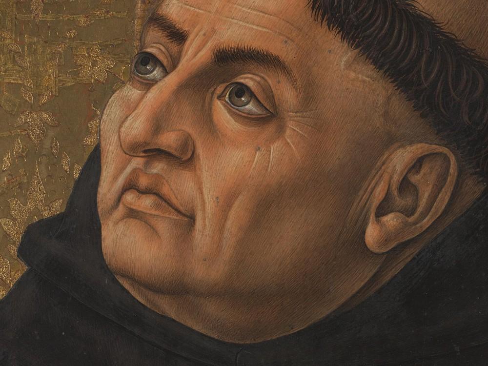Carlo Crivelli, św. Tomasz z Akwinu (1476)