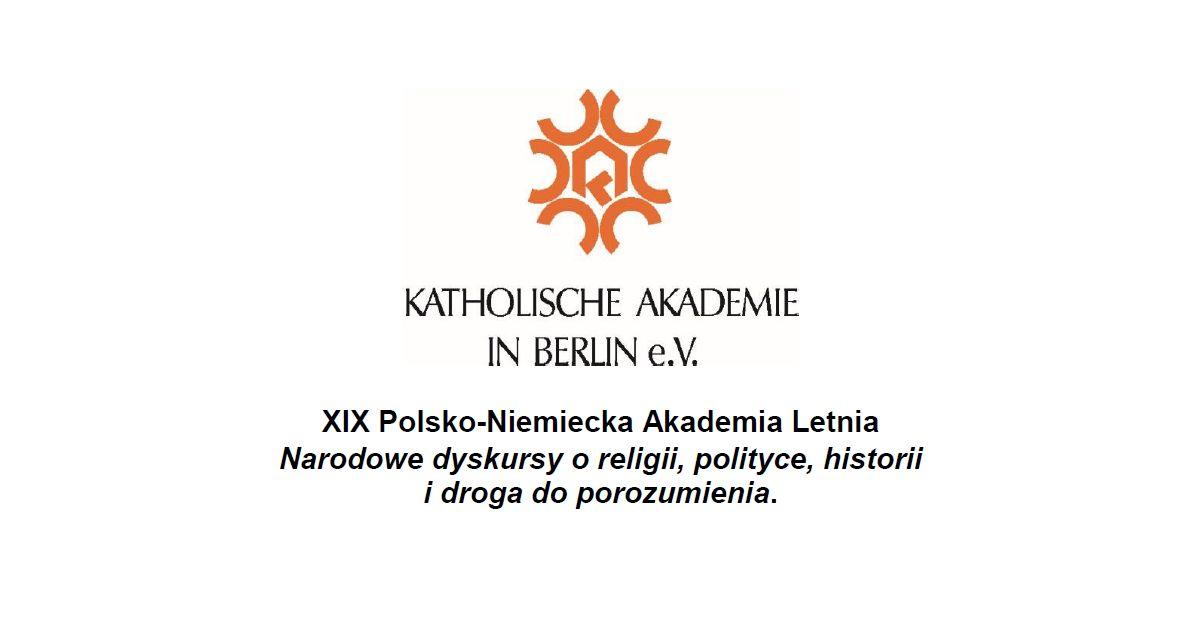 XIX Polsko-Niemiecka Akademia Letnia w Krakowie, 22-26 sierpnia 2018 r.