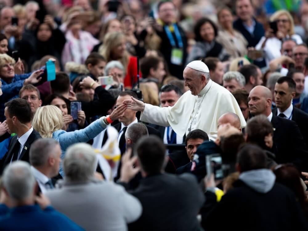 Papież Franciszek w Dublinie 25 sierpnia 2018 r.