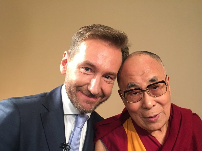 Piotr Kraśko z Dalajlamą