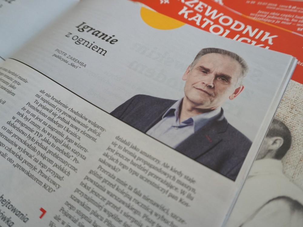 """Piotr Zaremba w """"Przewodniku Katolickim"""""""
