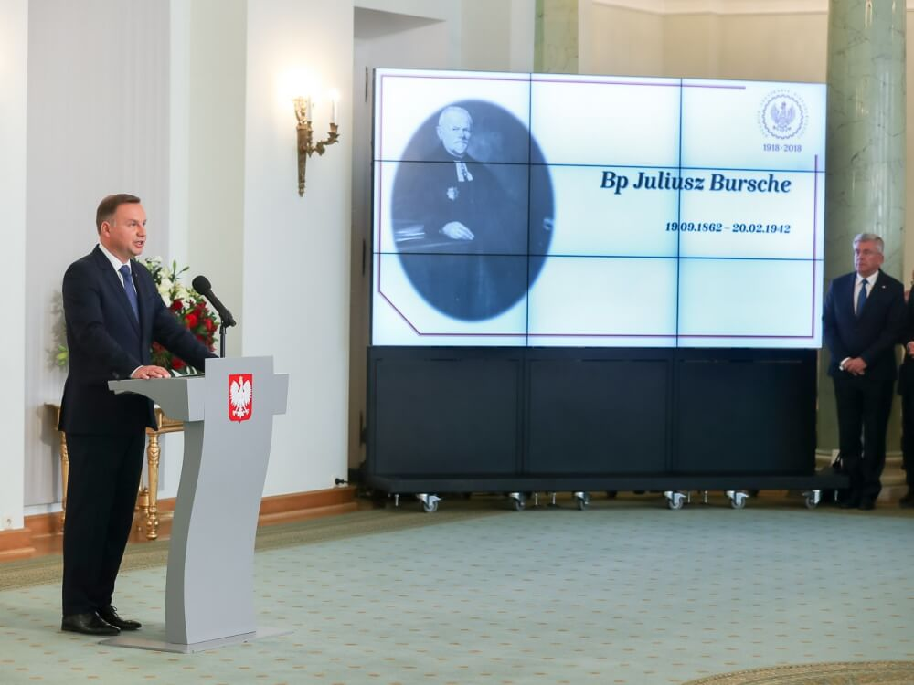 Prezydent Andrzej Duda ogłosił nazwiska 25 osób, które 11 listopada 2018 roku zostaną pośmiertnie uhonorowane Orderami Orła Białego za zasługi dla polskiej niepodległości