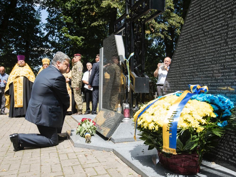 Prezydent Ukrainy Petro Poroszenko zaapelował 8 lipca 2018 r. w Sahryniu o pojednanie historyczne z Polską