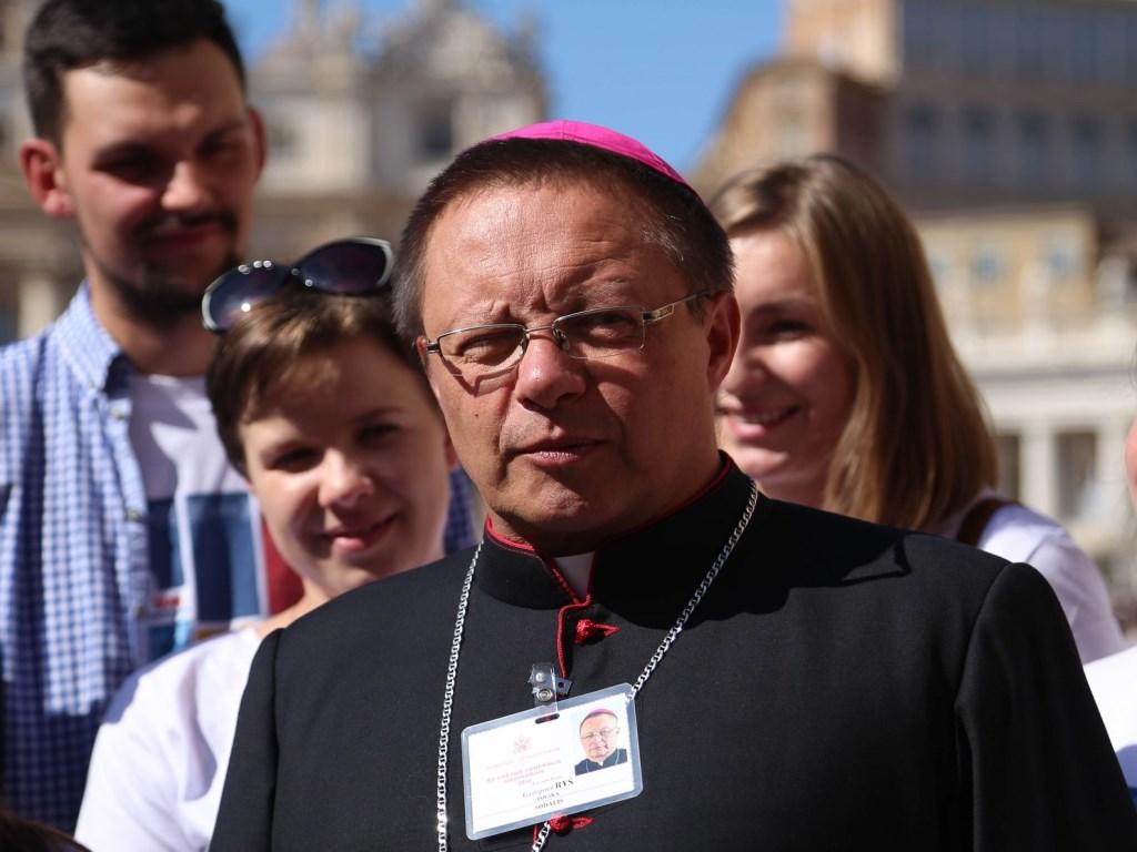 Abp Grzegorz Ryś podczas brefingu prasowego 3 października 2018 r. w Rzymie. Fot. BP KEP