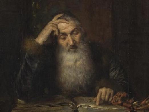 """Stanisław Heyman, """"Żyd czytający – Talmudysta"""", 1880"""