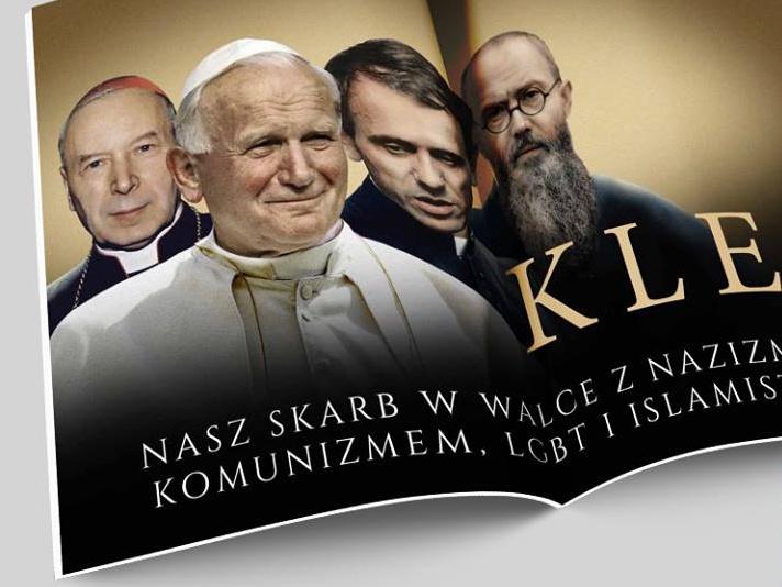 """Plakat dodawany do tygodnika """"Gazeta Polska"""""""