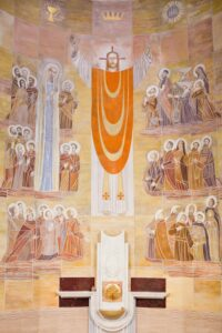 Fresk Zbigniewa Łoskota w kościele św. Wincentego a Paulo w Otwocku