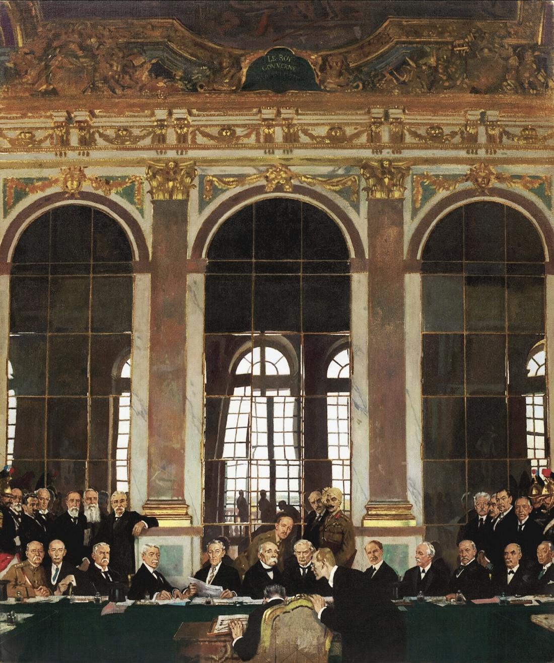 William Orpen, Podpisanie traktatu pokojowego w Sali Lustrzanej