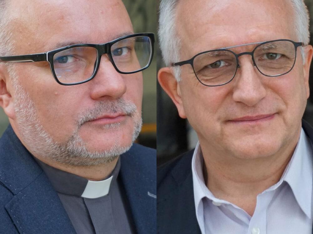 Ks. Andrzej Draguła i Zbigniew Nosowski