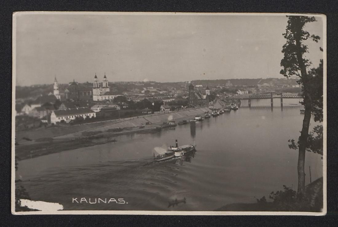 Pocztówka z Kowna, rok 1930