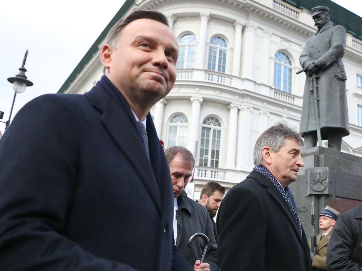 Prezydent Andrzej Duda podczas obchodów Święta Niepodległości w Warszawie 11 listopada 2017 r.