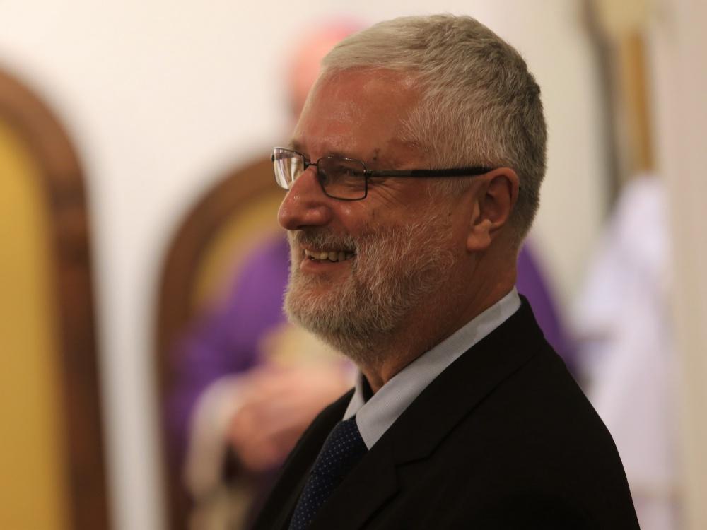 Marcin Przeciszewski podczas Mszy św. sprawowanej z okazji jubileuszu 25-lecia KAI