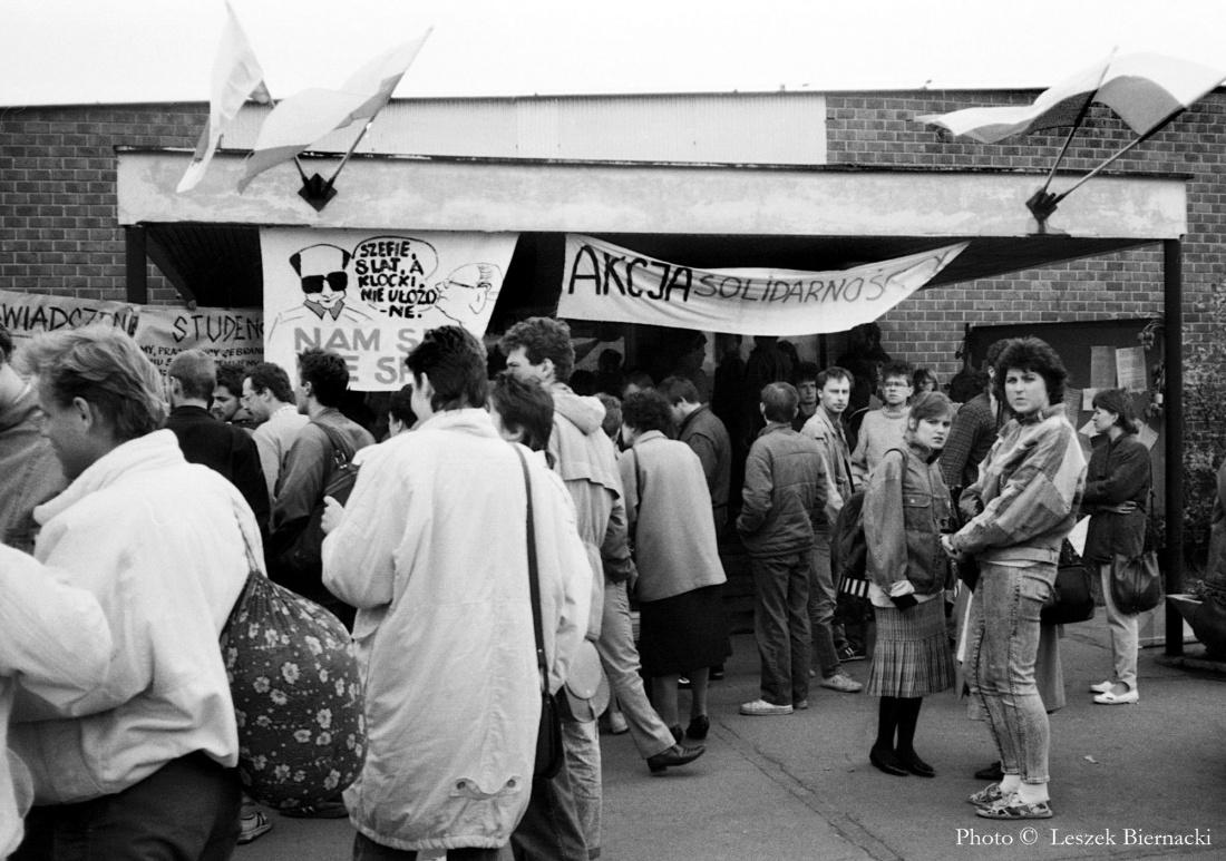 Strajk na Uniwersytecie Gdańskim, maj 1988 r.