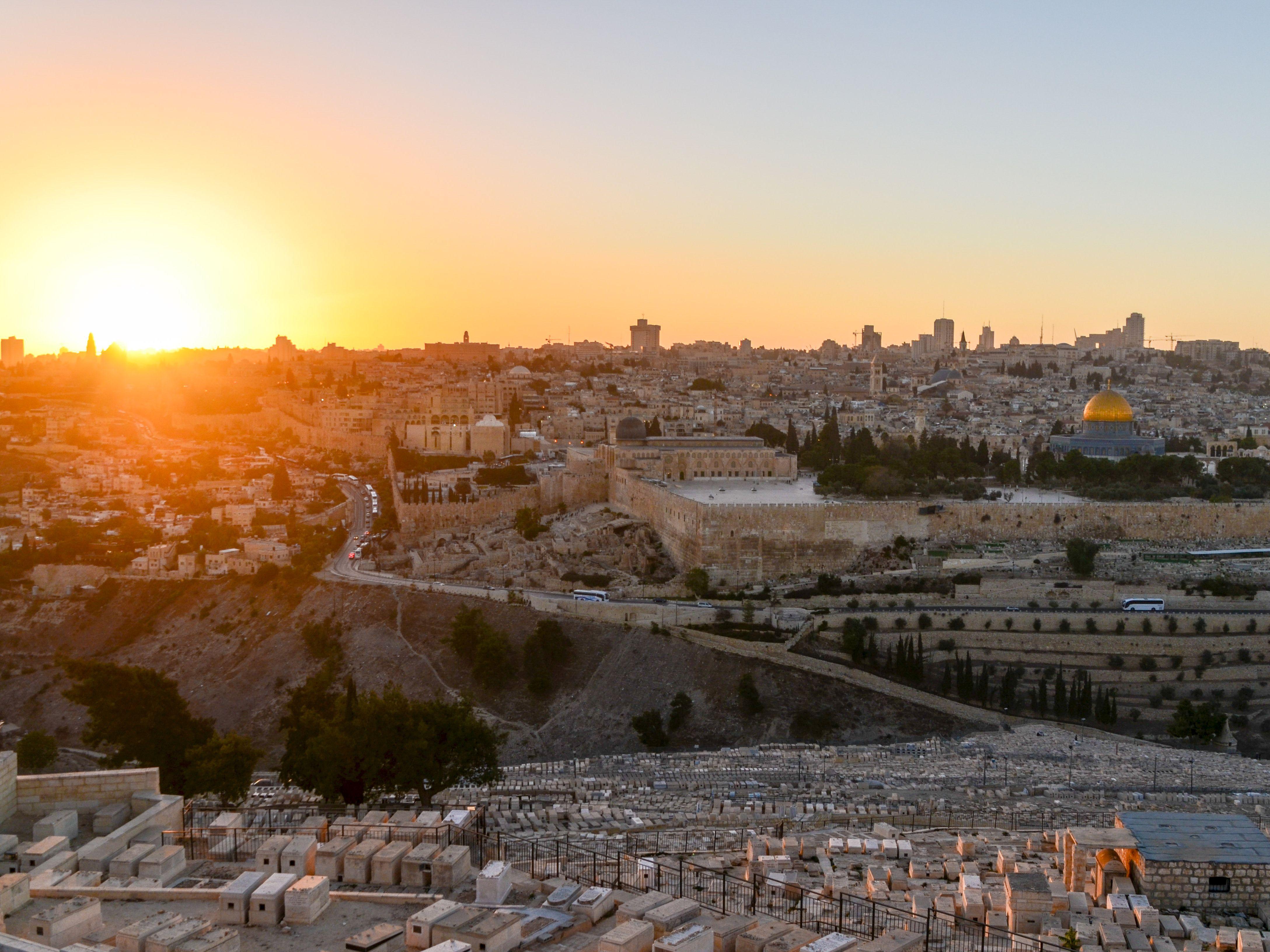 Widok na Jerozolimę z Góry Oliwnej