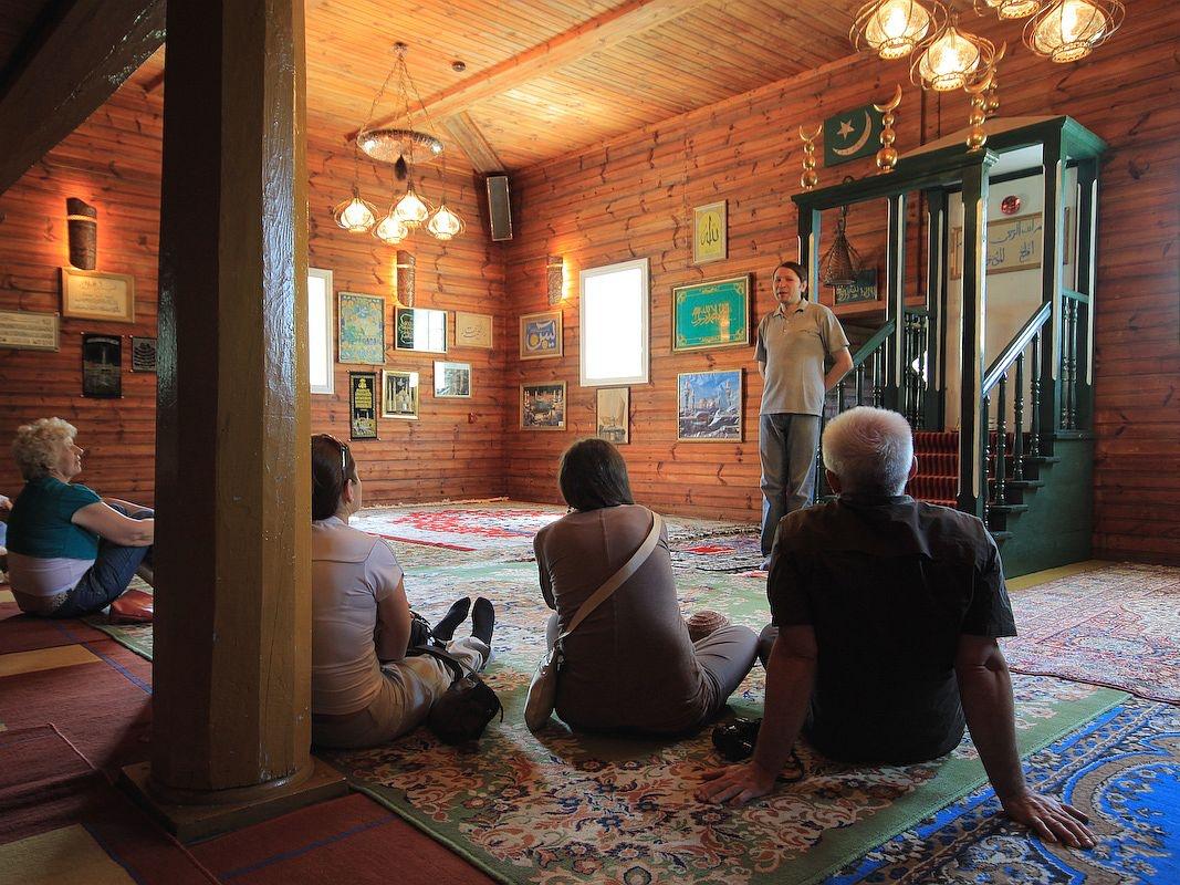 Wnętrze meczetu w Kruszynianach