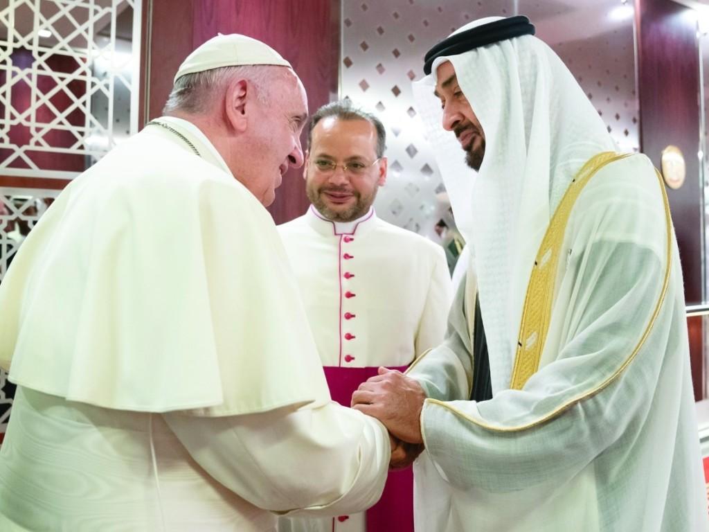Franciszek w Zjednoczonych Emiratach Arabskich