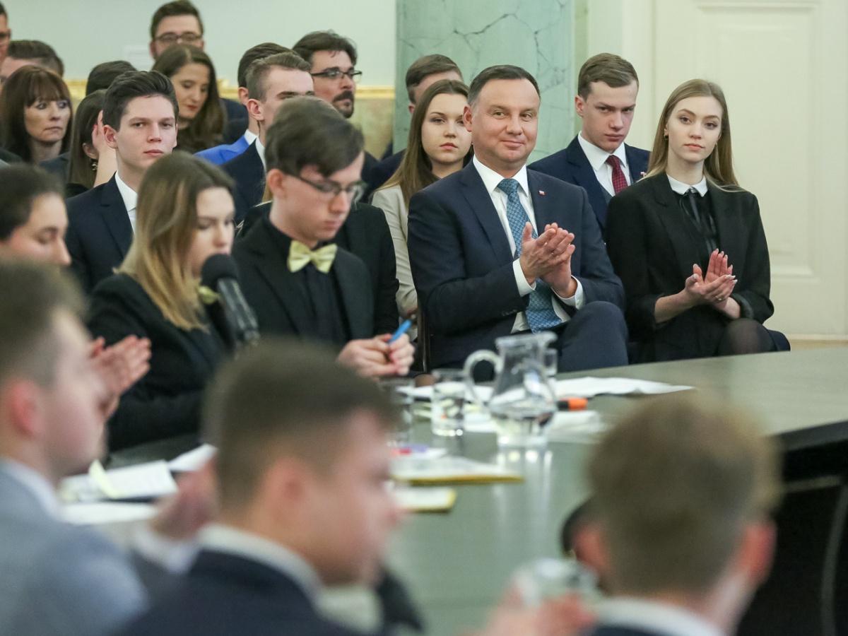 Debata oksfordzka w Pałacu Prezydenckim w przeddzień 30. rocznicy obrad Okrągłego Stołu. Warszawa, 5 lutego 2019 r.