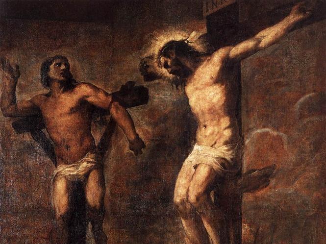 "Tycjan, ""Chrystus i Dobry Łotr"", 1566"