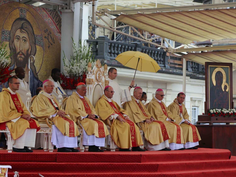 Biskupi podczas Mszy św. na Jasnej Górze 25 sierpnia 2018 r.