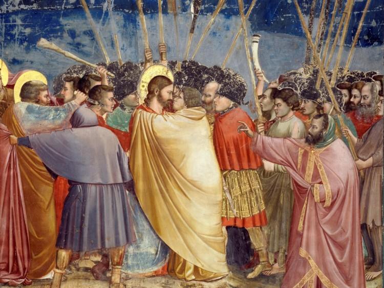 """Giotto, """"Pocałunek Judasza"""""""