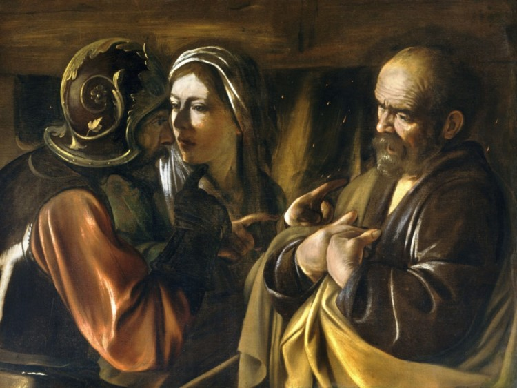"Caravaggio, ""Zaparcie się Piotra"""
