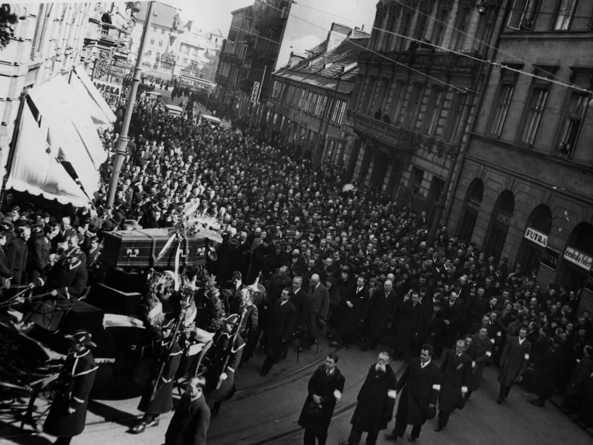 Ulica Trębacka w kwietniu 1937 r.