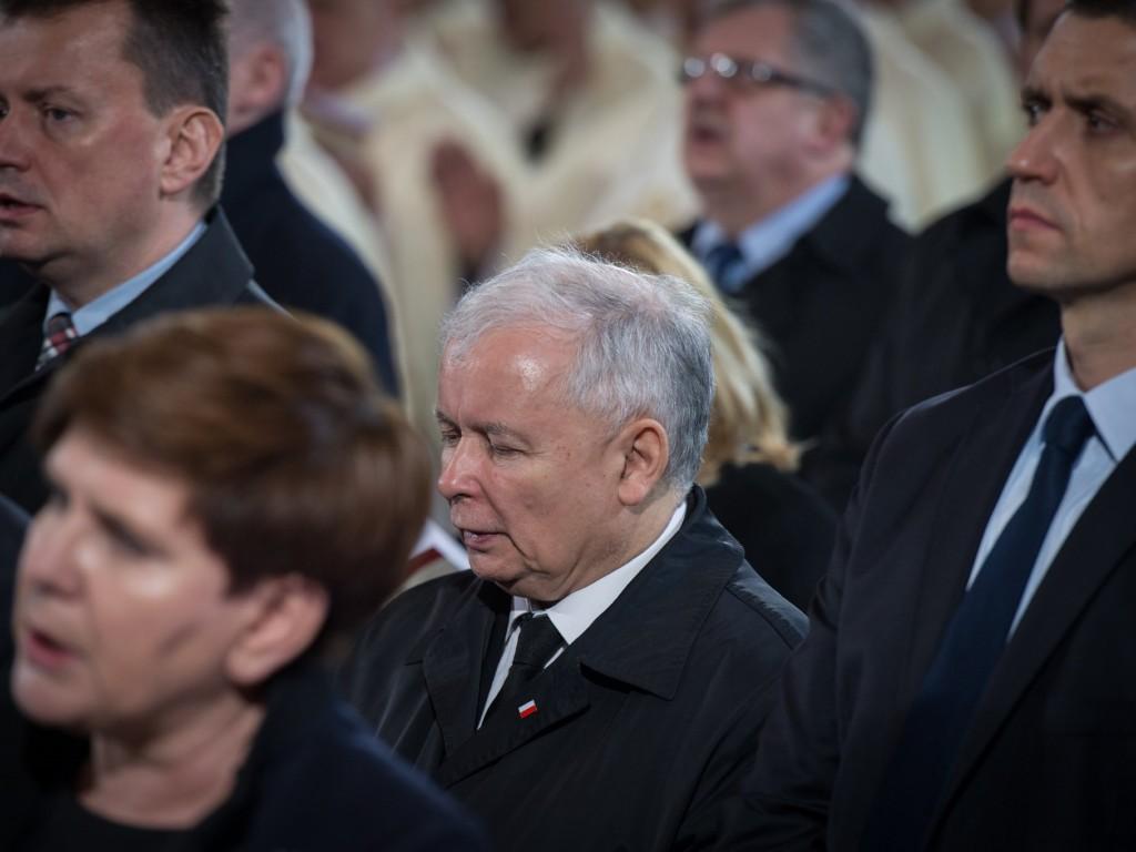 Jarosław Kaczyński, Mariusz Błaszczak i Beata Szydło