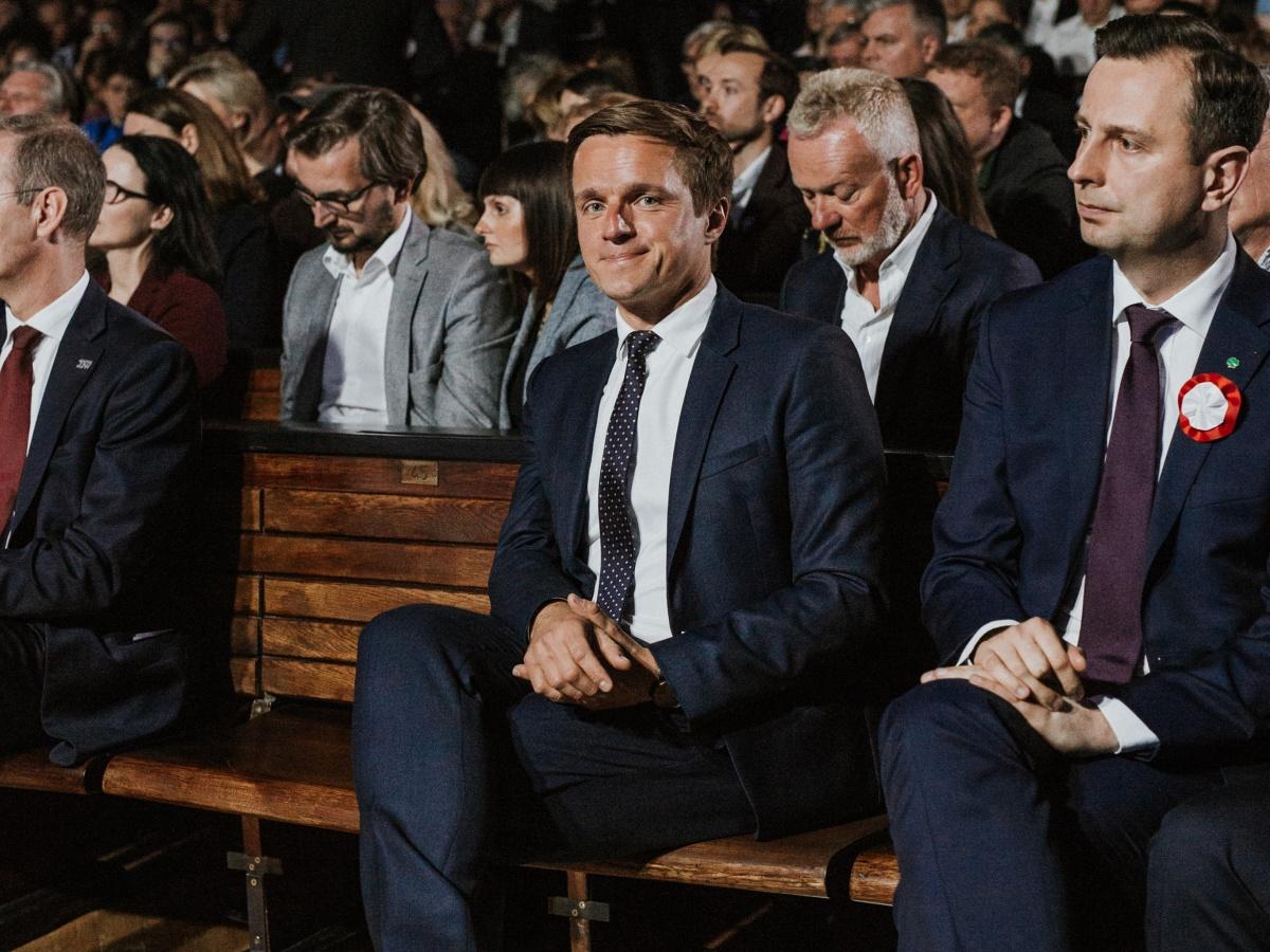 Leszek Jażdżewski w Auditorium Maximum Uniwersytetu Warszawskiego 3 maja 2019 r.