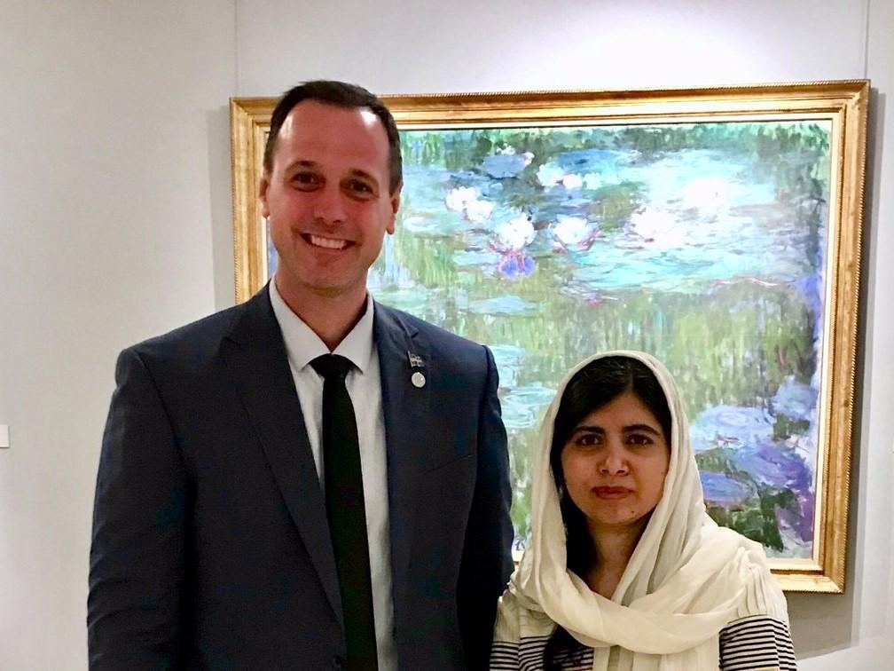 Jean-François Robege i Malala Yousafzai
