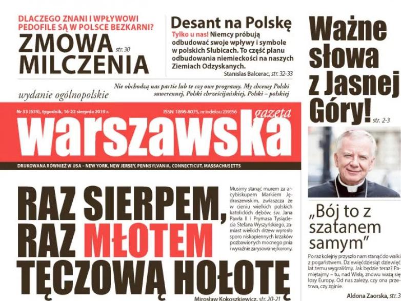 """""""Tęczowa hołota"""", czyli antychrześcijańskie świadectwo """"Warszawskiej Gazety"""""""