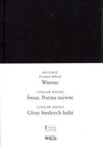 Wiersze Czesława Miłosza