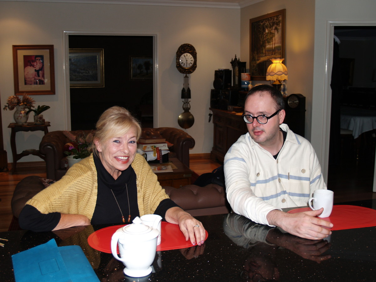 Barbara Borowiecka i ks. Jan Kaczkowski