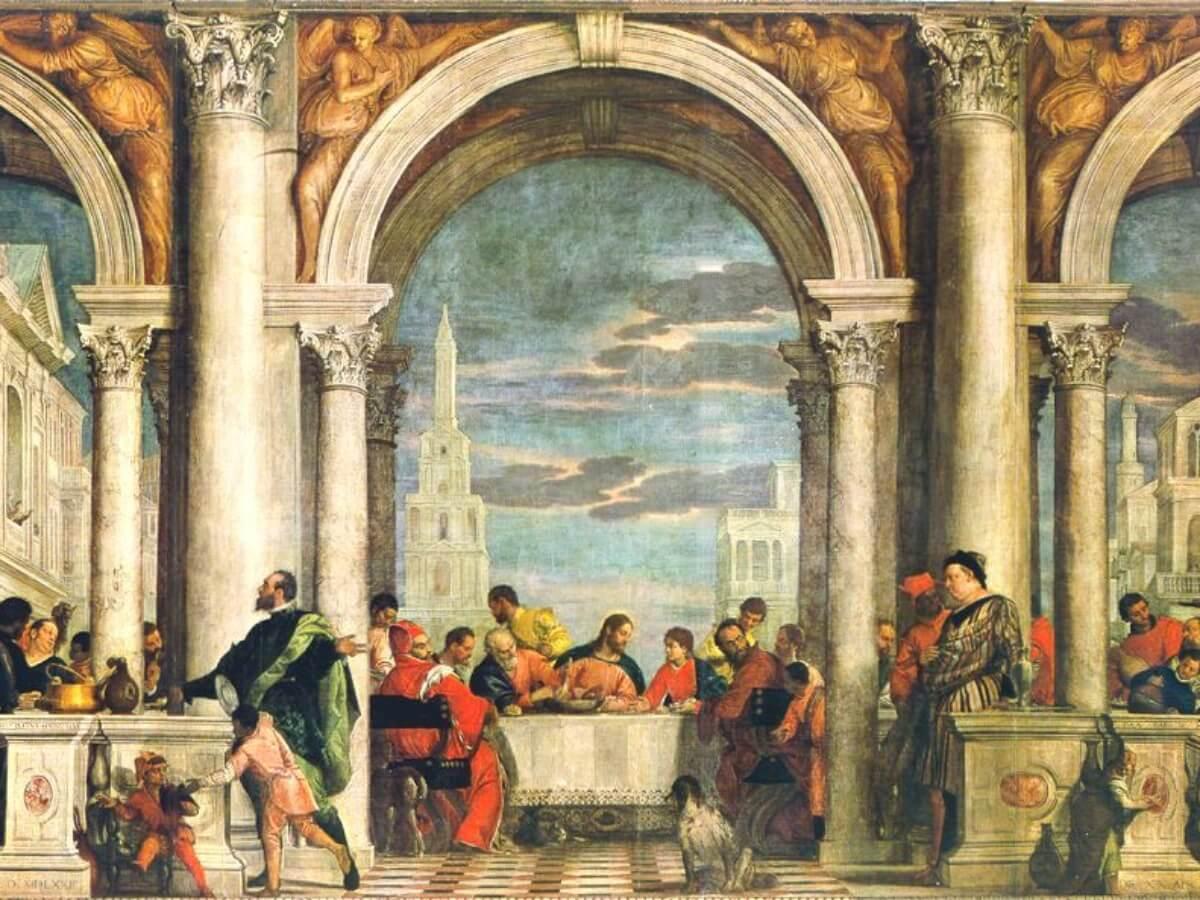 """""""Uczta w domu Lewiego"""" Paola Veronesego (1573)"""