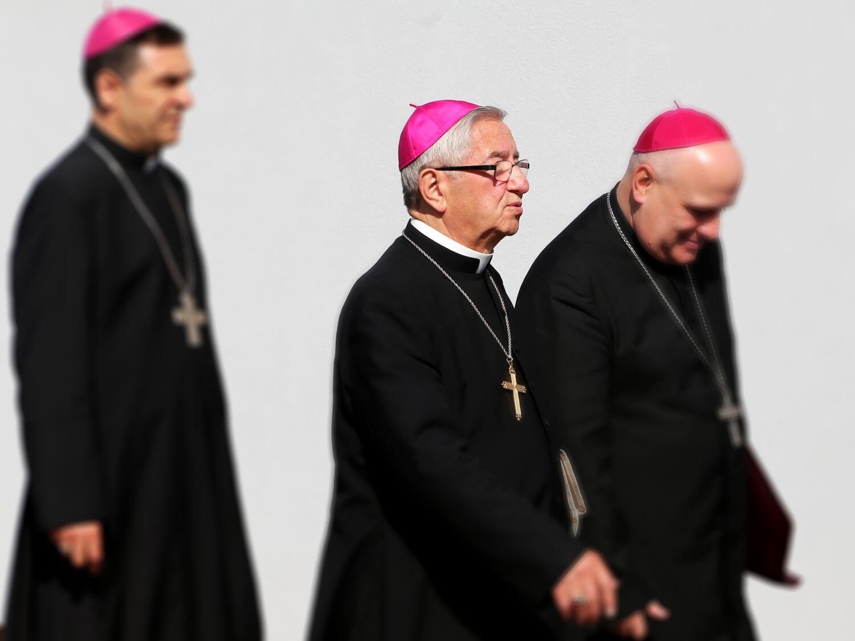 Abp Sławoj Leszek Głódź podczas zebrania plenarnego episkopatu w Wałbrzychu 14 czerwca 2019 r.