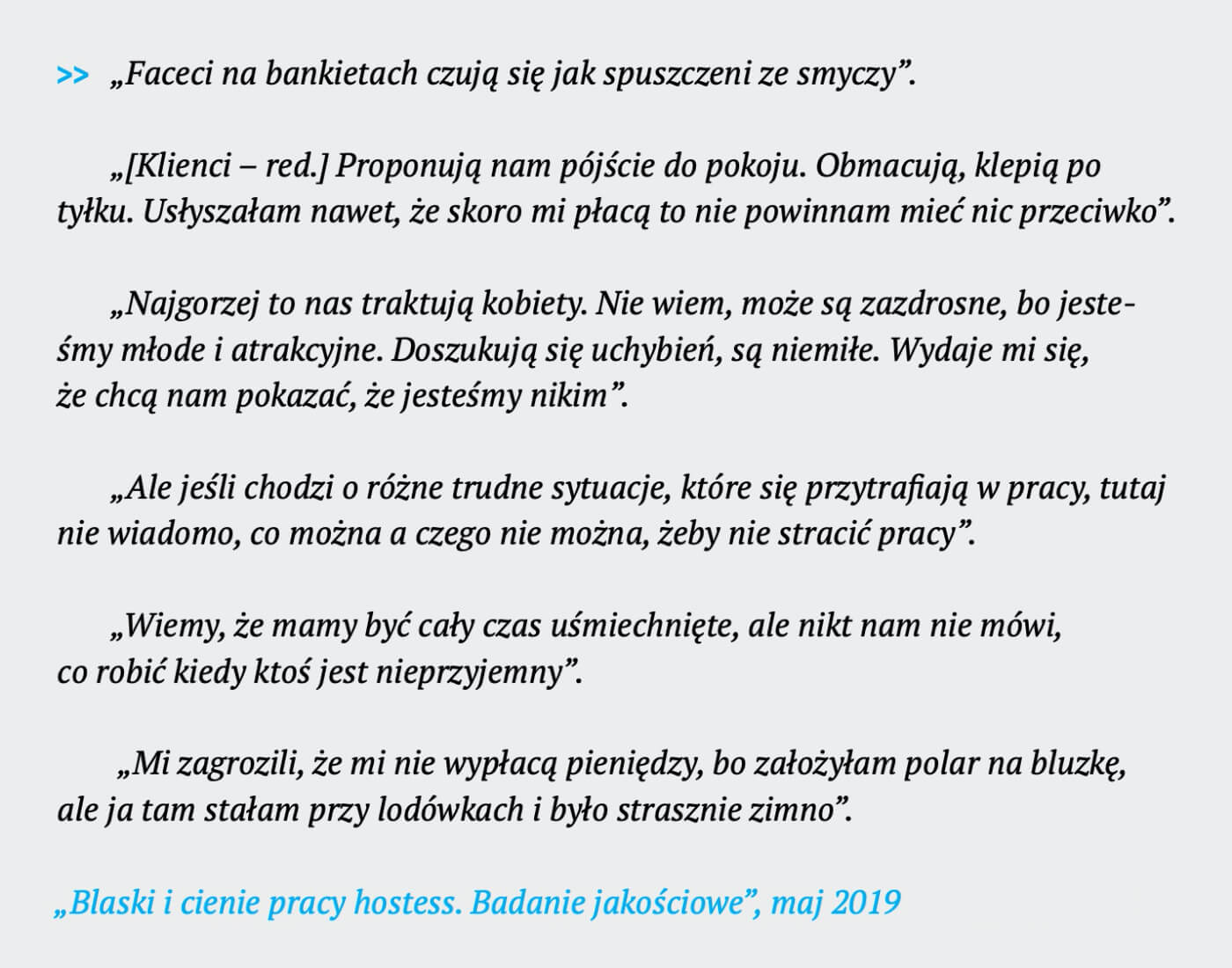 """Raport """"Branża hostess w Polsce. Główne problemy i kontrowersje"""""""