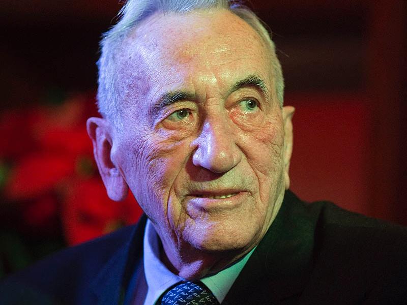 Tadeusz Mazowiecki w Krakowie 20 grudnia 2012 r.