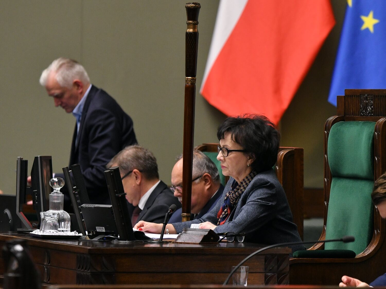 Marszałek Sejmu Elżbieta Witek podczas czwartego dnia pierwszego posiedzenia Sejmu IX kadencji