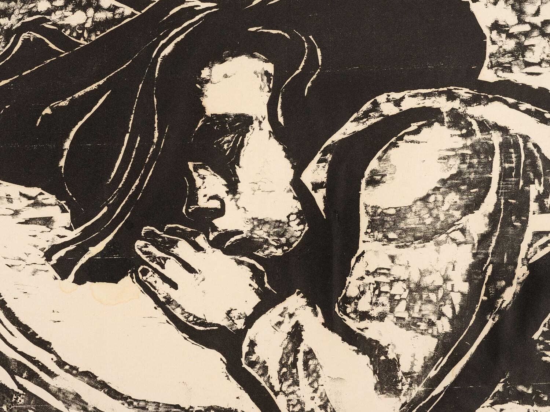 """""""Śpiąca dziewczynka"""", 1956"""