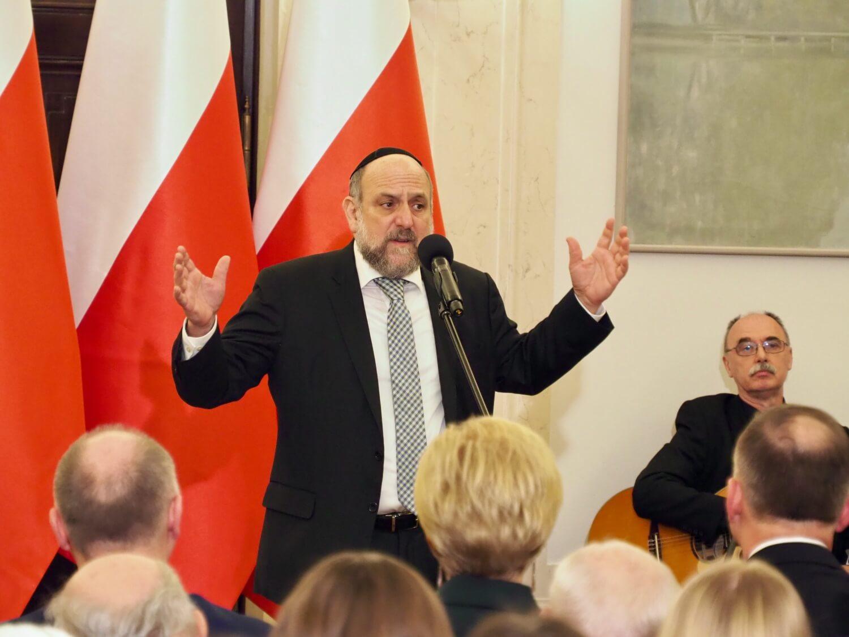 Rabin Michael Schudrich w Pałacu Prezydenckim 9 stycznia 2019 r.